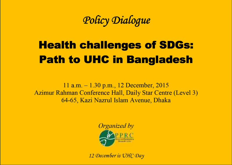 Health challenges of SDGs : Path to UHC in Bangladesh
